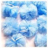 Tulle PomPom Garland Blue - Uk Baby Shower Co ltd