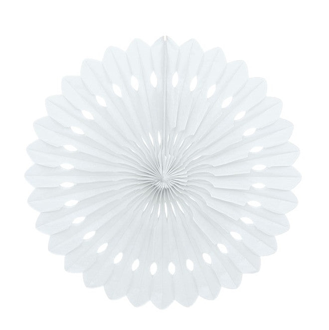 White Decorative Fan,[product type] - Baby Showers and More