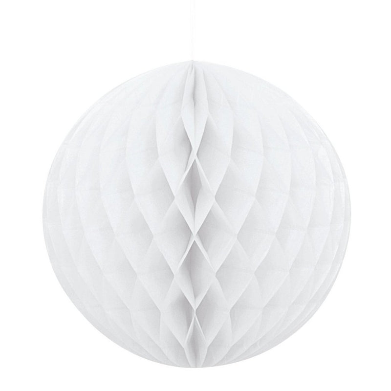 White Honeycomb Ball,[product type] - Baby Showers and More