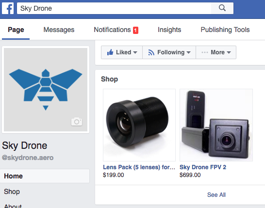 Sky Drone FPV 2 can now be purchased on Facebook