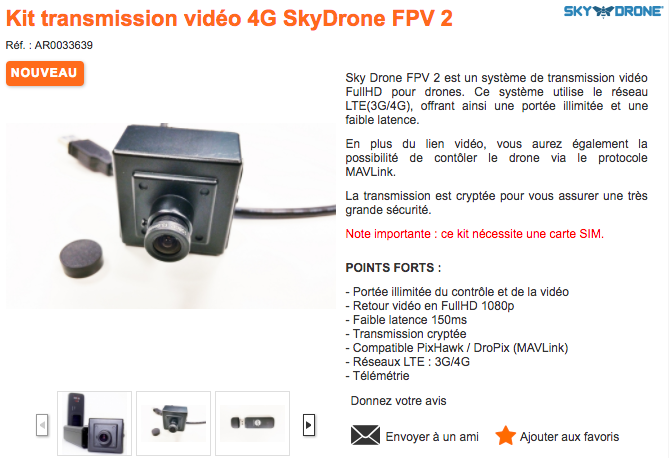 Sky Drone FPV 2 just went on sale at studioSPORT in France