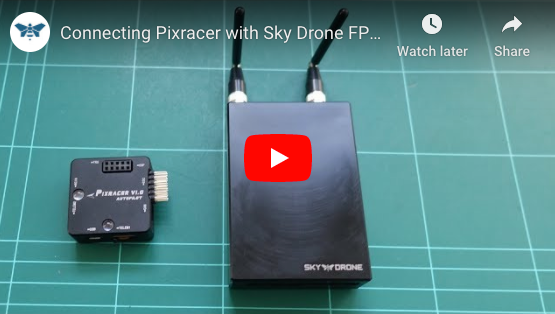 Connecting Pixracer to Sky Drone FPV 3 (and Link 3)