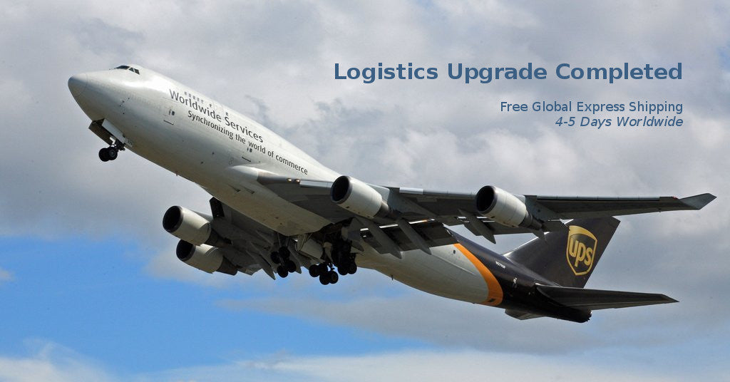 Logistics Upgrade Completed - Shipping is back to usual 1-2 day processing time