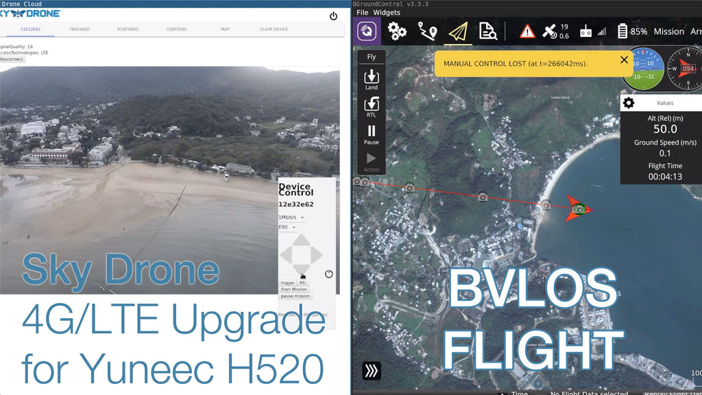 BVLOS Flight with a Yuneec H520 and Sky Drone 4G/LTE Upgrade