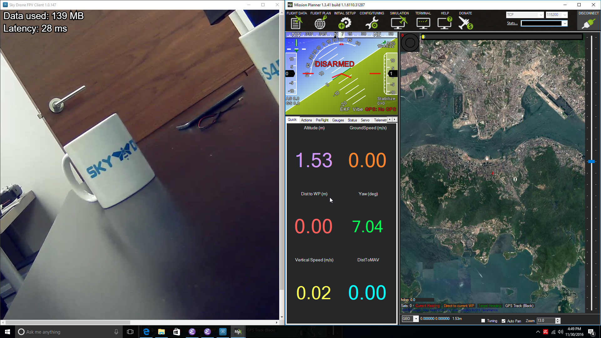 Using Sky Drone FPV with Mission Planner for full 4G/LTE