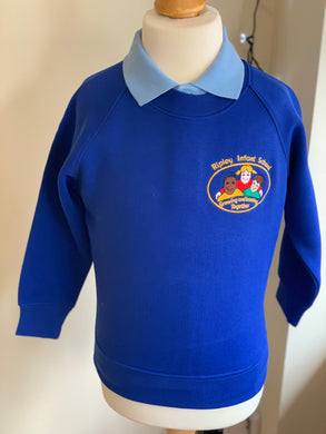 Ripley Infant School Royal Blue Crew Neck Sweatshirt - Matilda & Jack