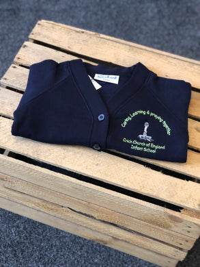 Crich C of E Infant School Navy Cardigan - Matilda & Jack