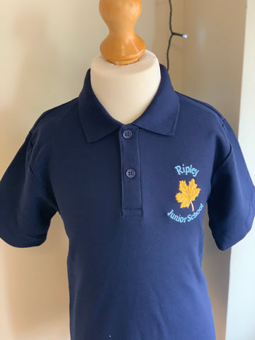 Ripley Junior School Navy Polo Shirt