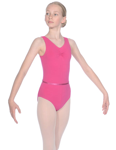 Roch Valley Cotton Sheree Sleeveless Leotard with Belt - Girls