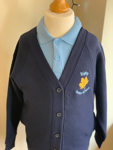 Ripley Junior School Navy School Cardigan