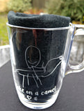 Child's drawing etched into glass - Matilda & Jack