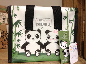 Panda insulated lunch bag