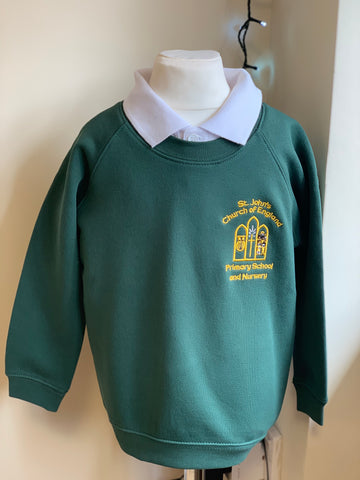St John's Primary School Belper Bottle Green Sweatshirt
