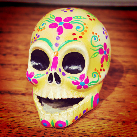 Day Of The Dead skull imported from Mexico