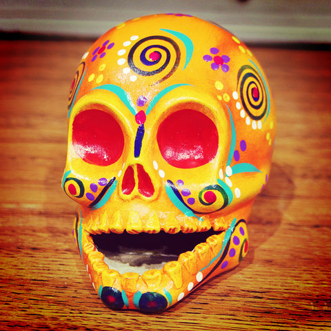 Paper mache skull from Mexico