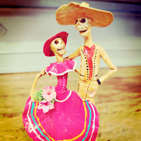 Day Of The Dead couple imported from Mexico