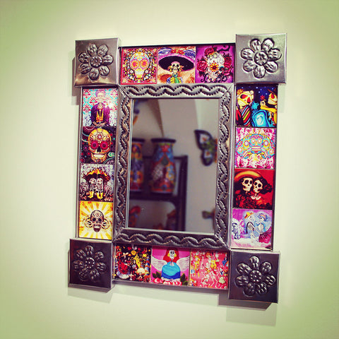 Day Of The Dead tiled mirror imported from Mexico