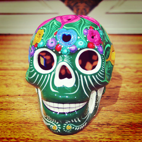 Medium sized Day Of The Dead skull