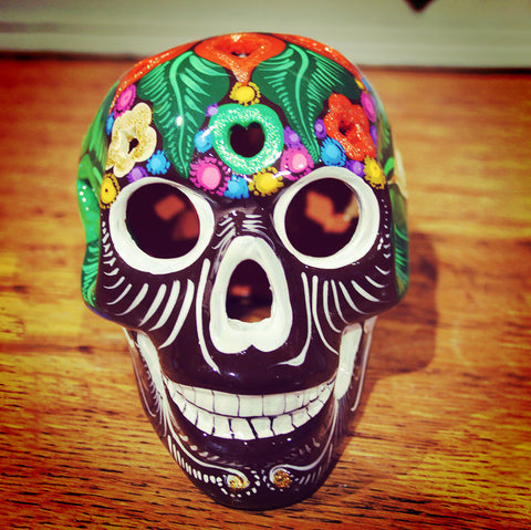 Hand-painted skull from Mexico