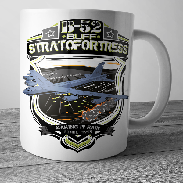 Christmas Gift ideas with Coffee Mugs B-52 Stratofortress Making It Rain Since 1955 - The Sun Cat
