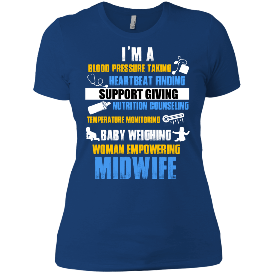 Baby Weighing Woman Empowering Midwife T-Shirt & Hoodie - The Sun Cat