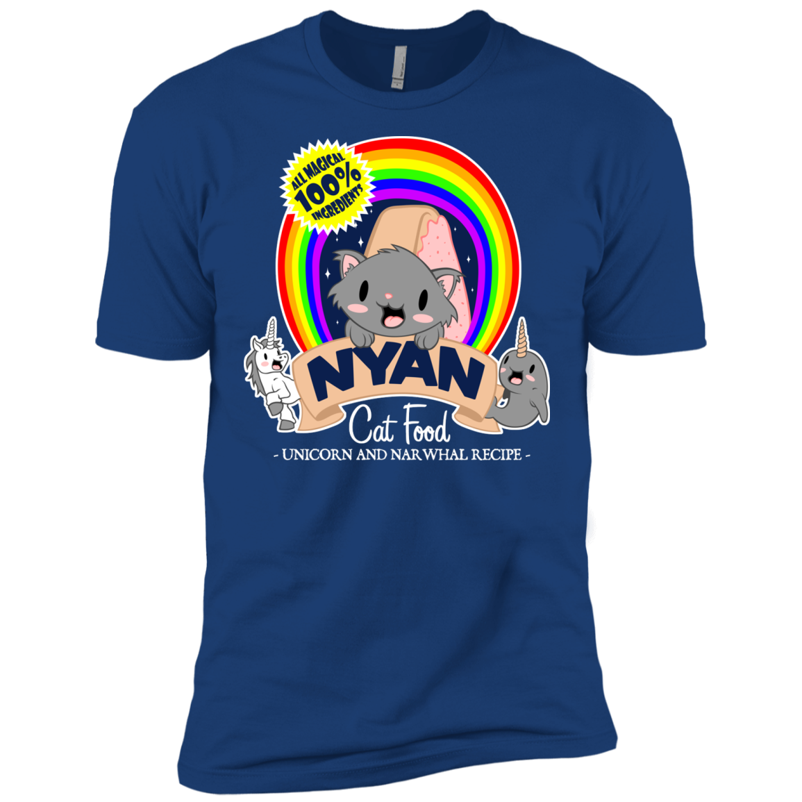 All Magical Nyan Cat Food T- Shirt - The Sun Cat