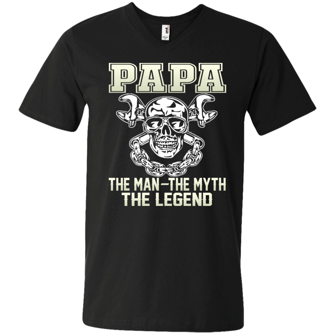 Mens Papa The Man The Myth The Legend - B - Father's Day Gift T-shirt - The Sun Cat