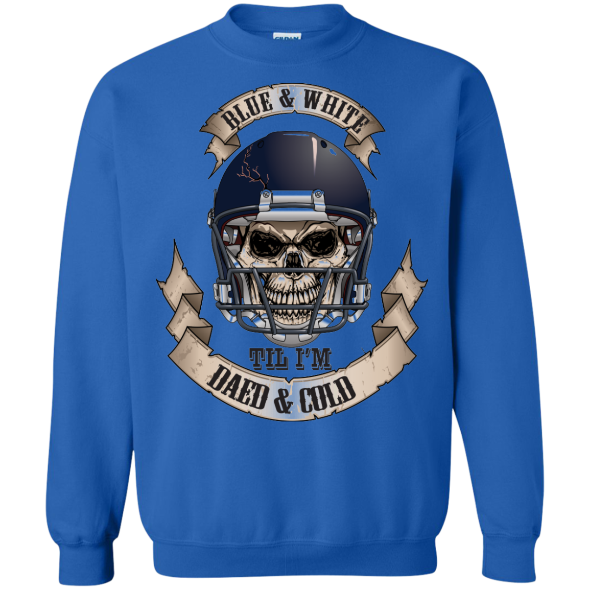 Blue & White Til I'm Dead & Cold - The Sun Cat