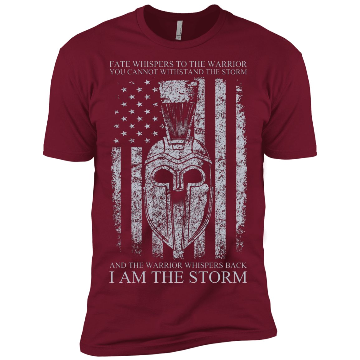 Warrior Tshirt I am the storm, Fate whispers to the warrior