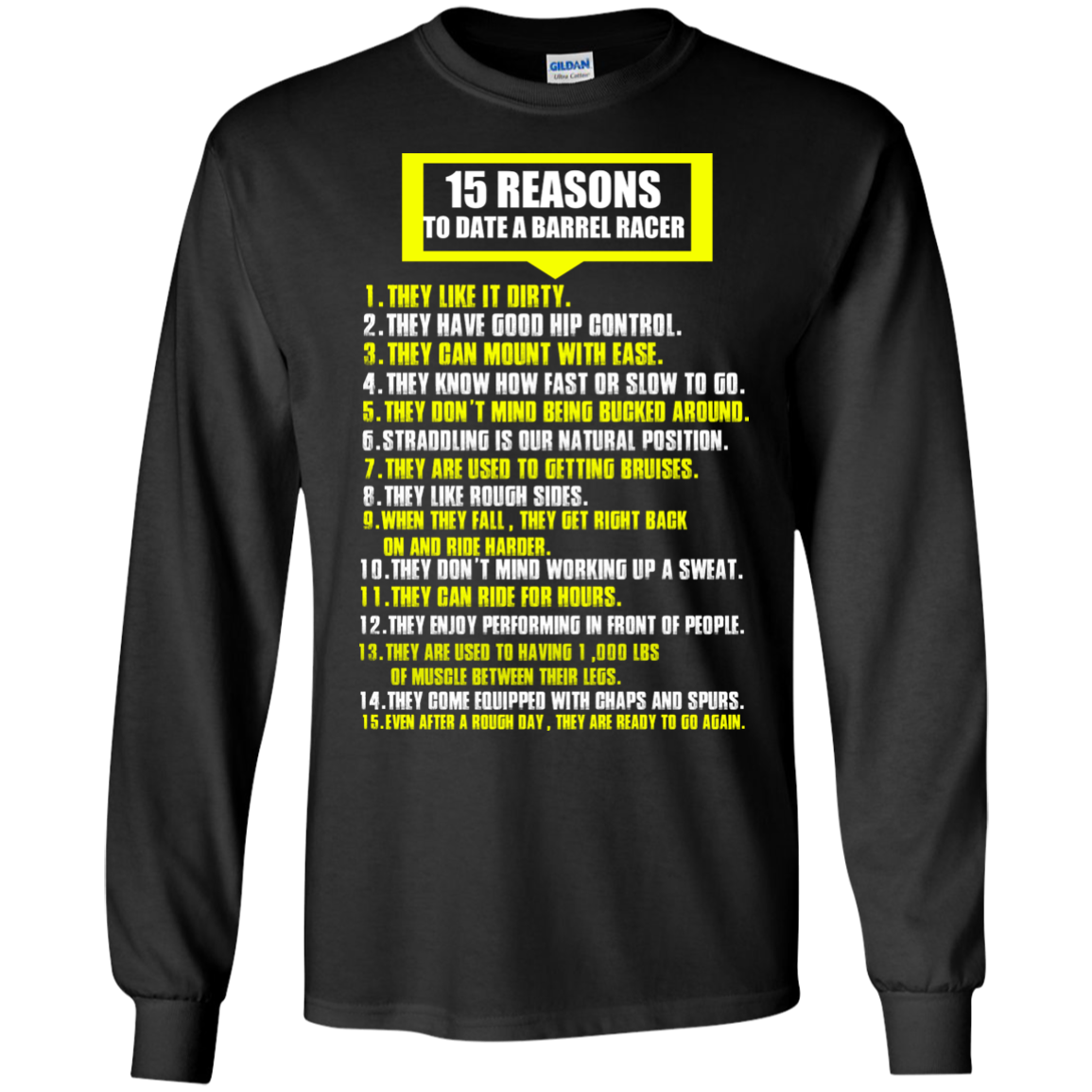 15 REASONS TO DATE A BARREL RACE T-Shirt & Hoodie - The Sun Cat