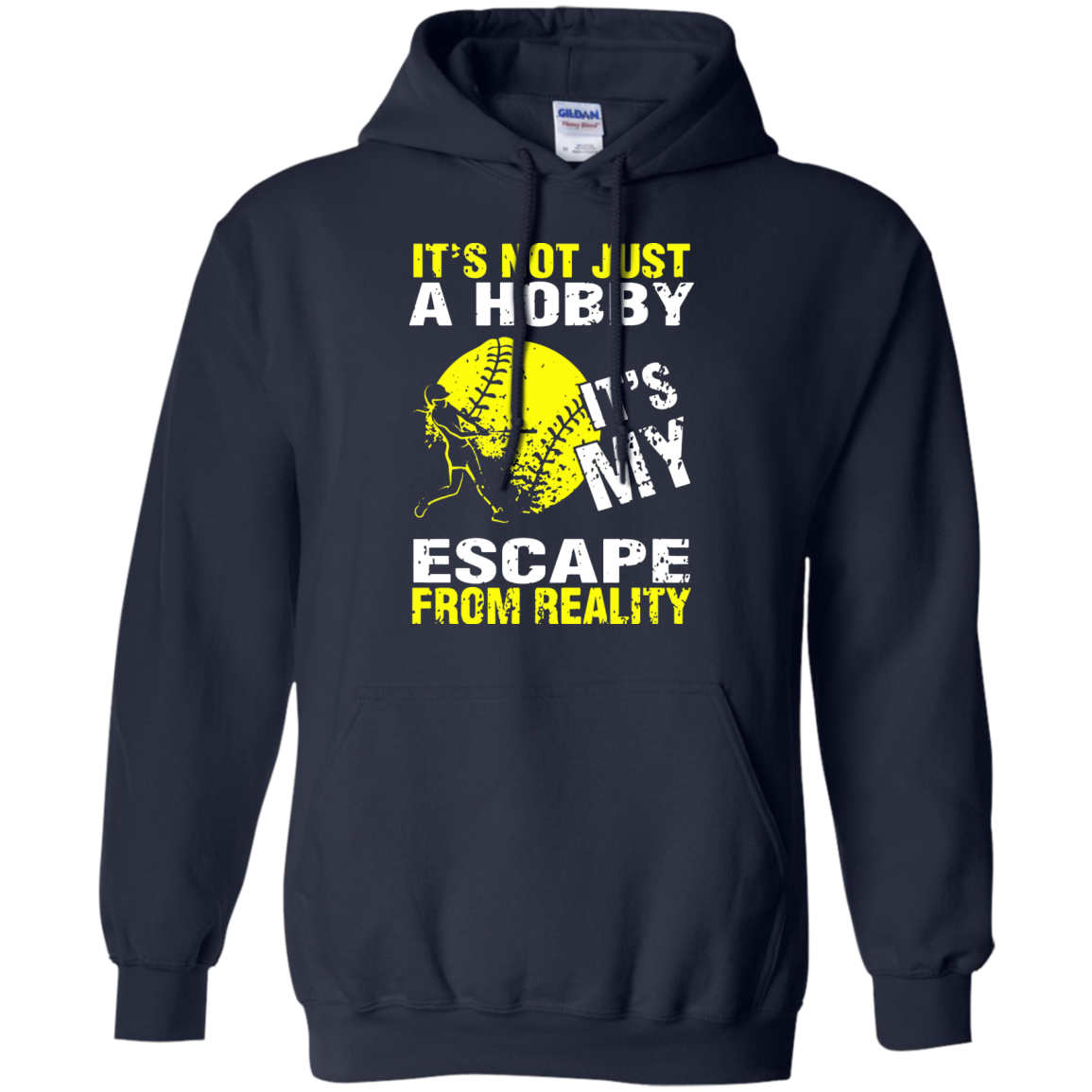 It's Not Just A Hobby It's My Escape From Reality Softball T-Shirt - The Sun Cat