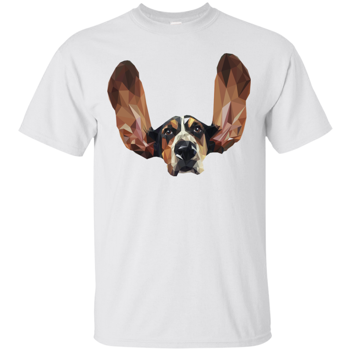 Basset Hound Low Poly T-Shirts & Hoodies - The Sun Cat