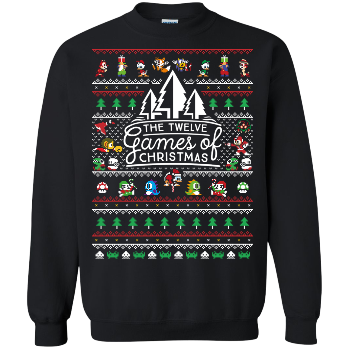 12 Games of Christmas Sweatshirt Ugly Christmas Sweater