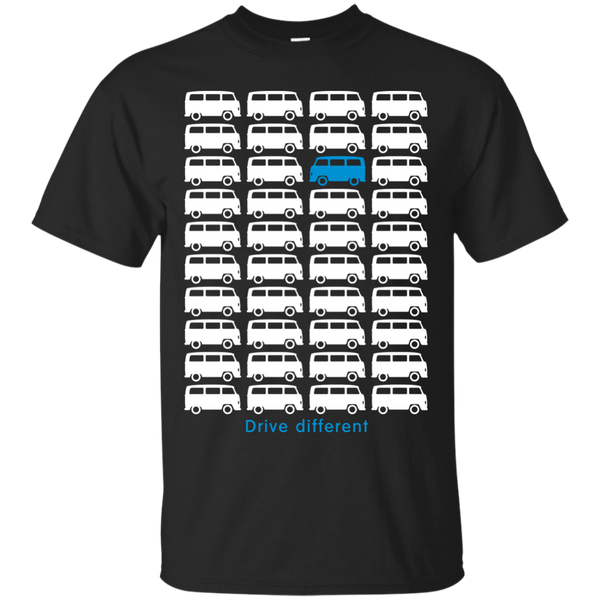 Drive different - Bus (white) Matching Family T-Shirts - The Sun Cat