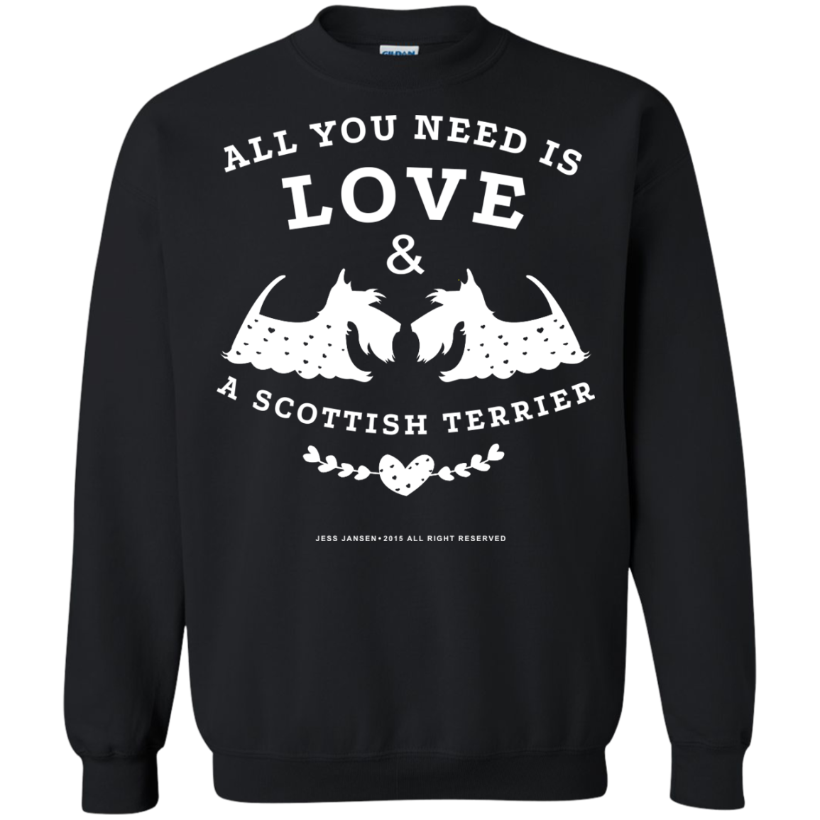 All You Need Is Love And A Scottish Terrier T-Shirts - The Sun Cat