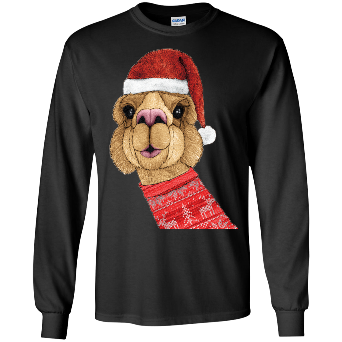 Alpaca Christmas Holiday Sweater T-Shirts Funny Ugly Christmas Sweater Shirt - The Sun Cat