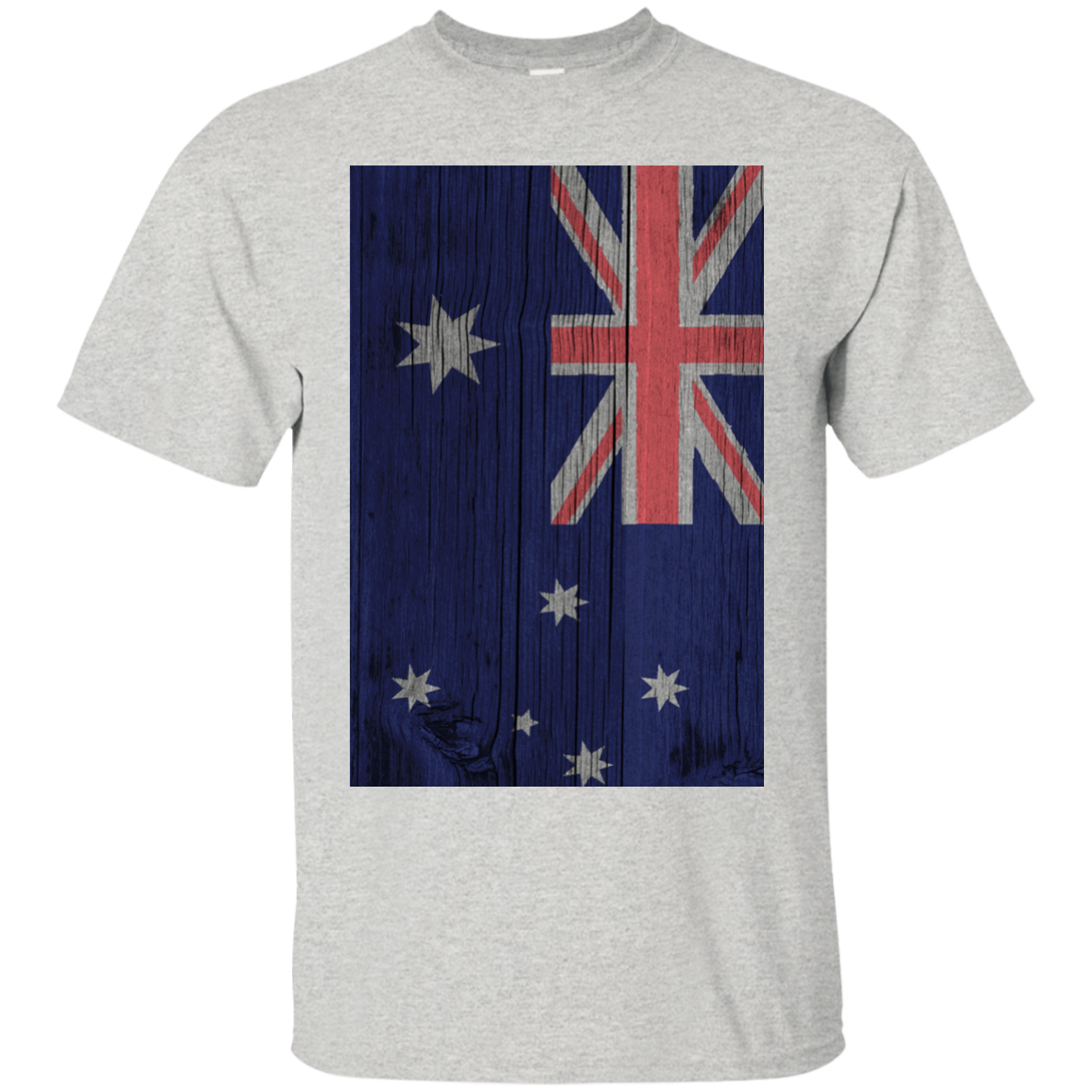 Australia Flag Painted on Wood T-Shirt & Hoodie, Sweatshirt