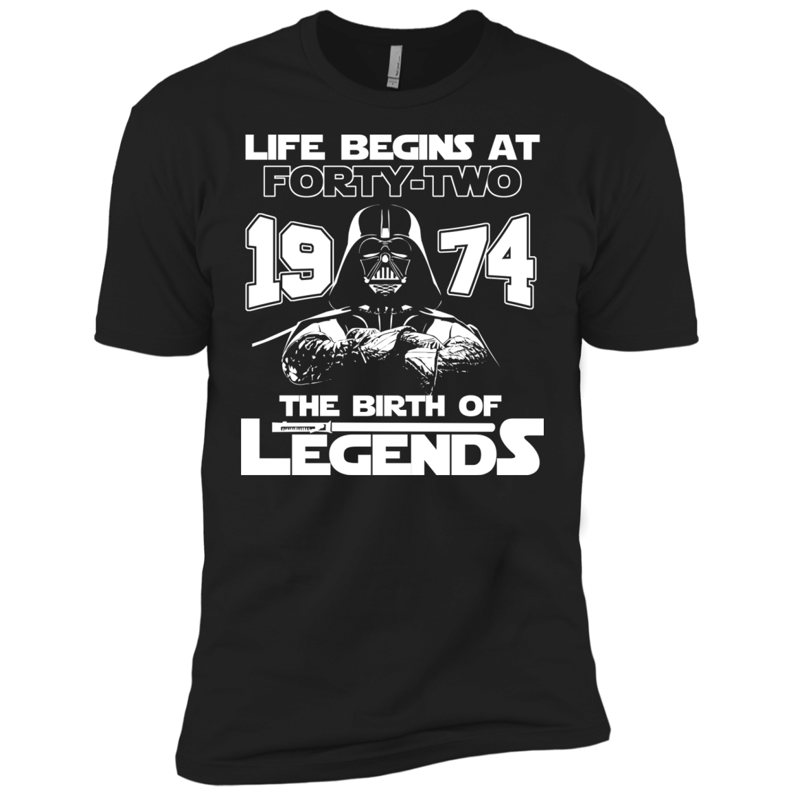 1974 Birthday shirt - Life Begins At 42 The Birth Of Legends T-Shirts - The Sun Cat