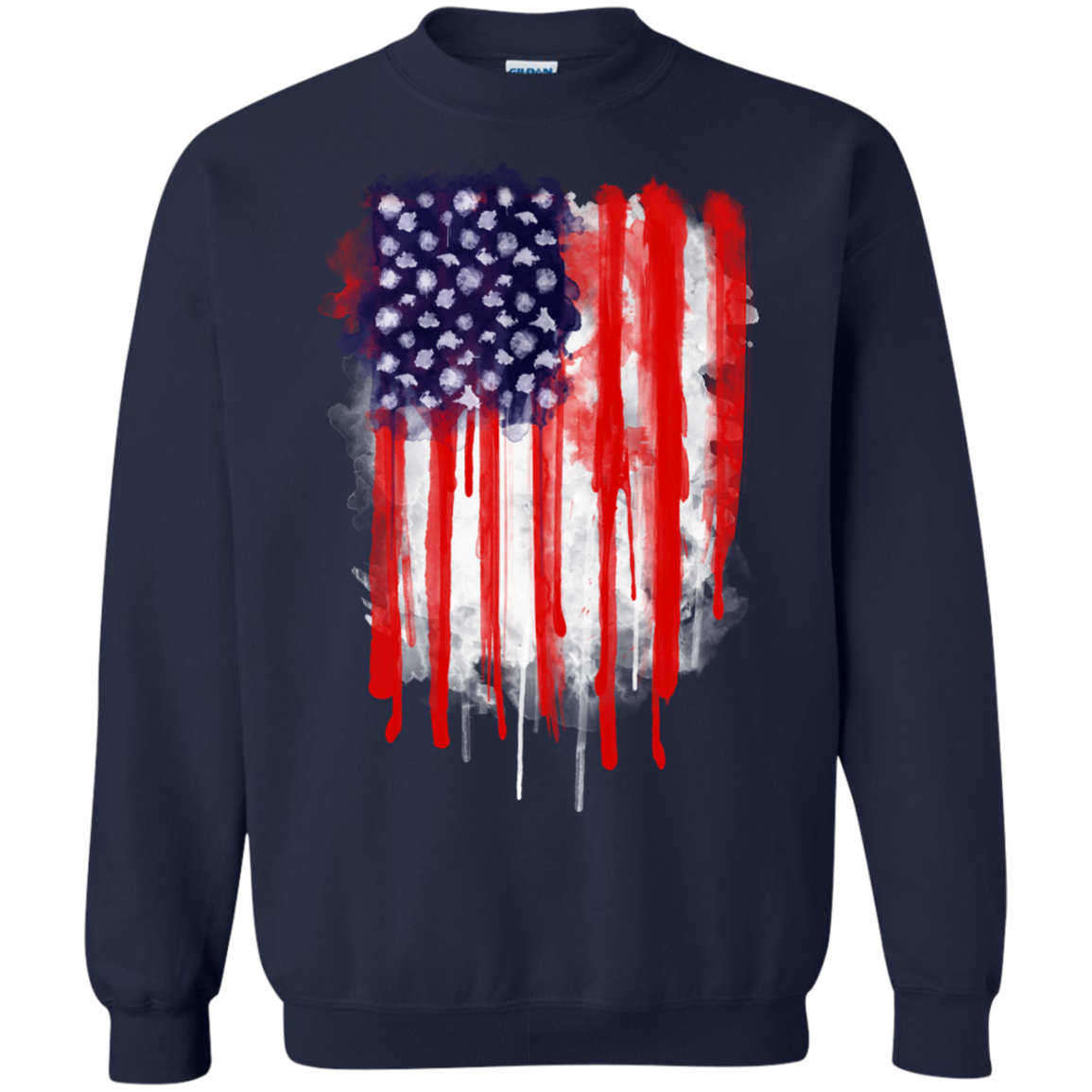 American Spatter Flag T-Shirt & Hoodie, Sweatshirt - The Sun Cat