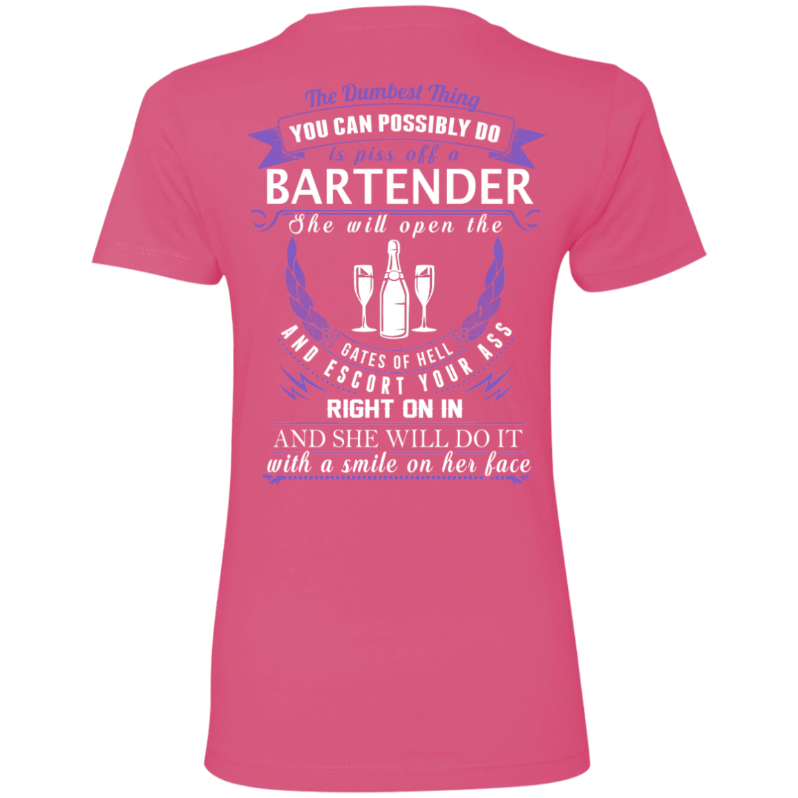 The Dumbest Thing...Bartender...With a smile on her face - TheSunCat.com - 9