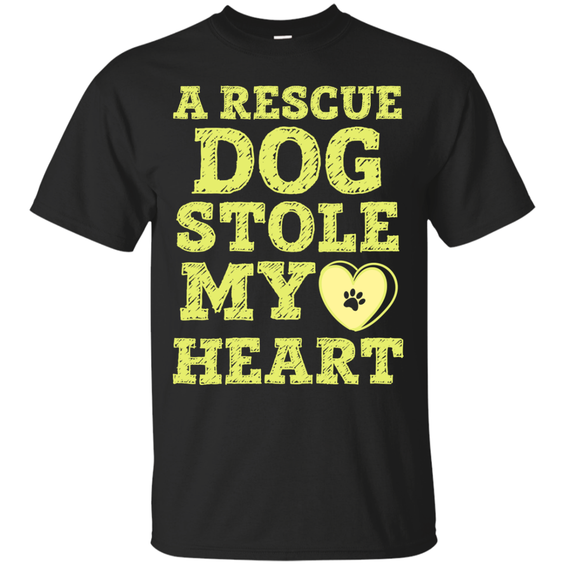A Rescue Dog Stole My Heart T-Shirt & Hoodie