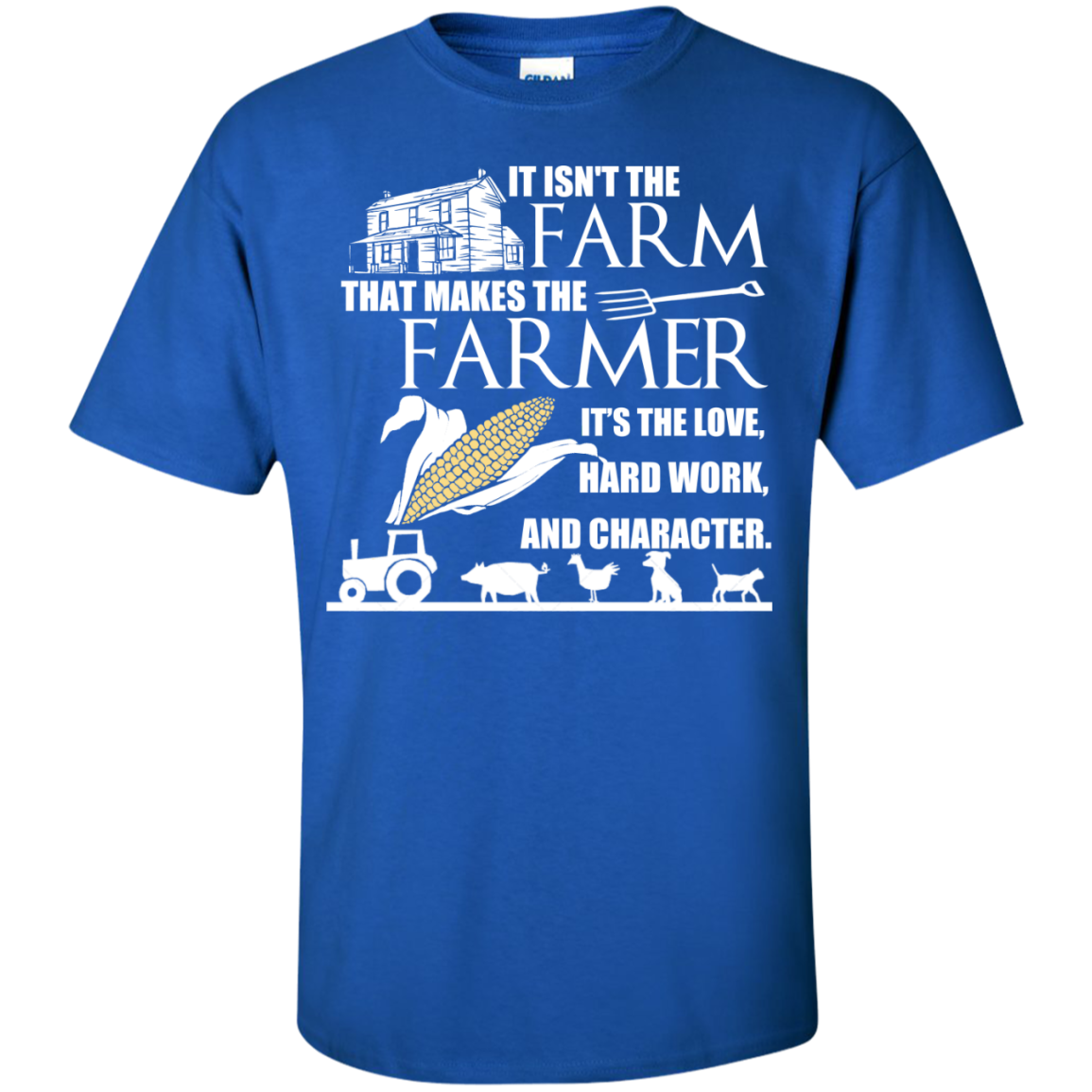 Farmer Shirt - It's The Love, Hard Word, And Character - The Sun Cat