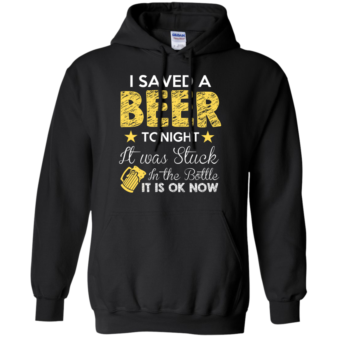 I Saved A Beer Tonight It Was Stuck In Bottle Ok Now TShirt - The Sun Cat