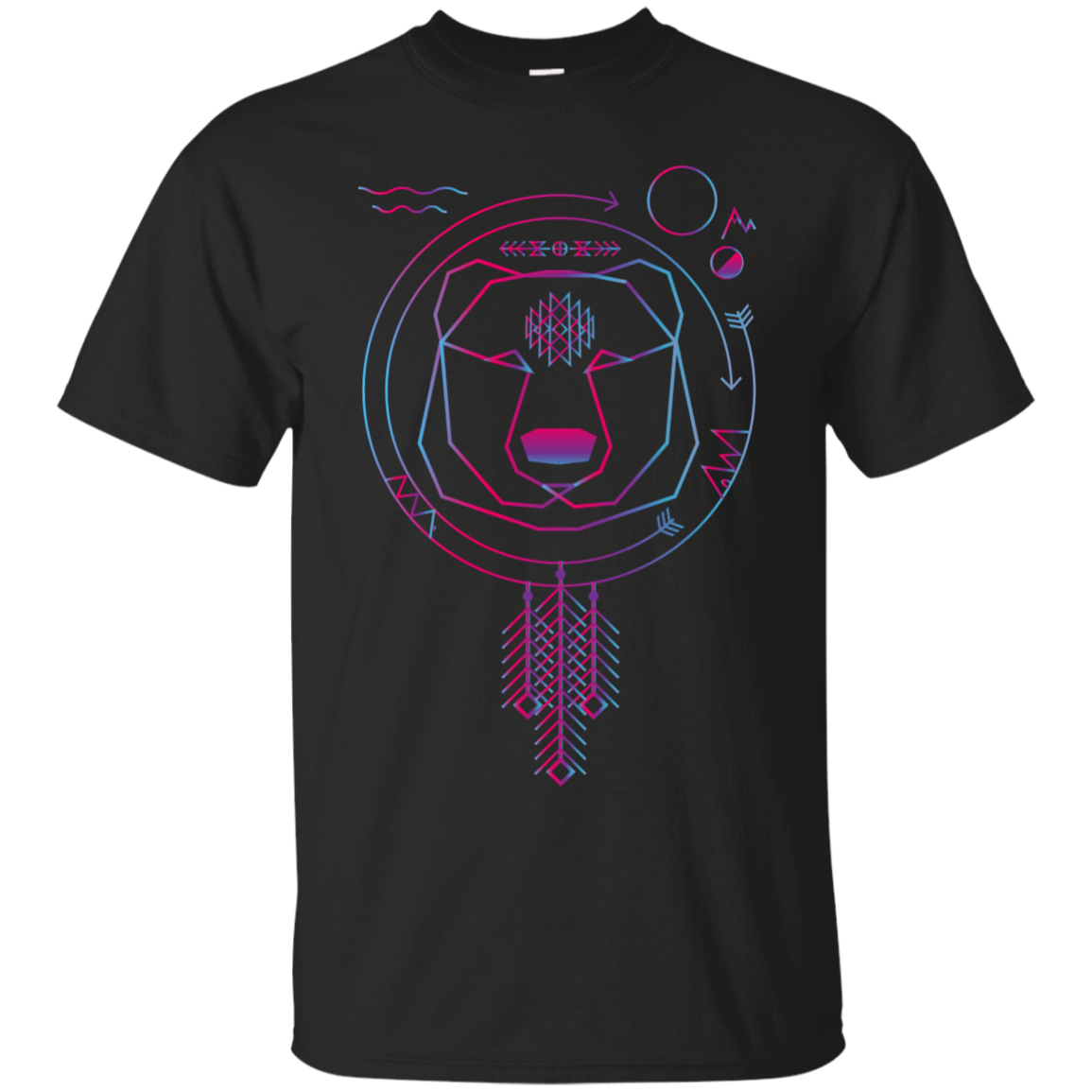 Colorfull geometric bear american native tribal universe Matching Family T-Shirts