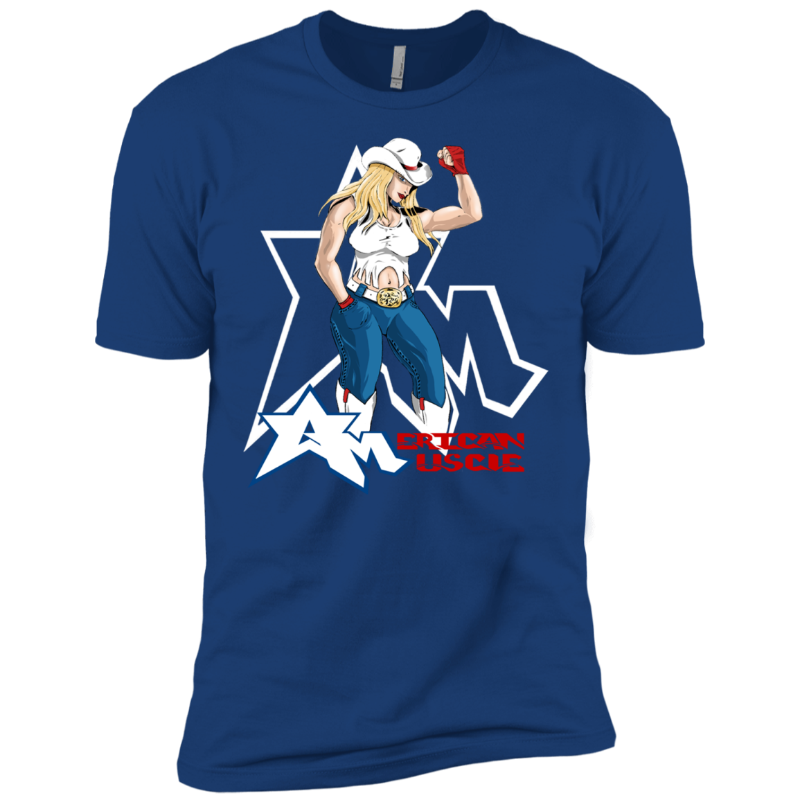 American Muscle Blonde T-Shirts Funny Sports Shirt Football Tee - The Sun Cat