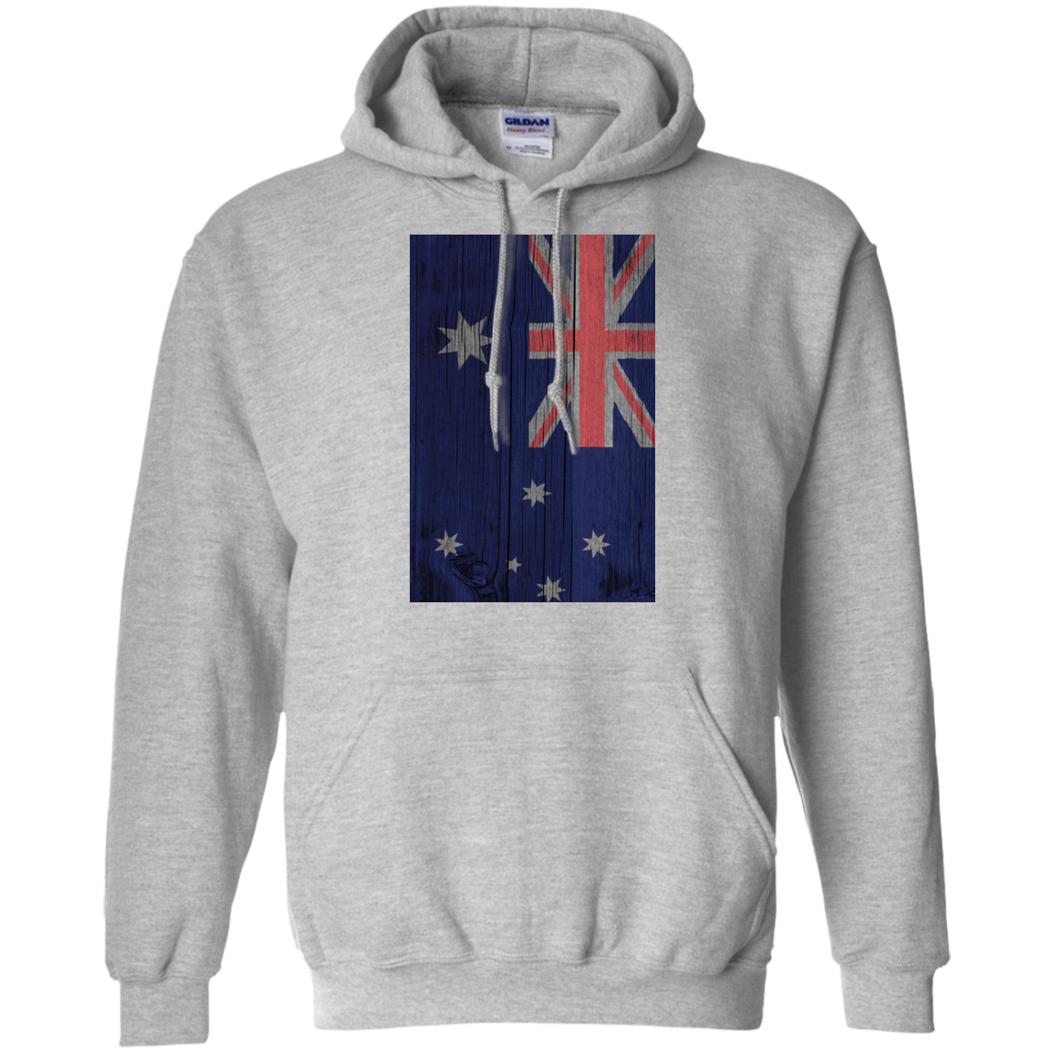 Australia Flag Painted on Wood T-Shirt & Hoodie, Sweatshirt - The Sun Cat