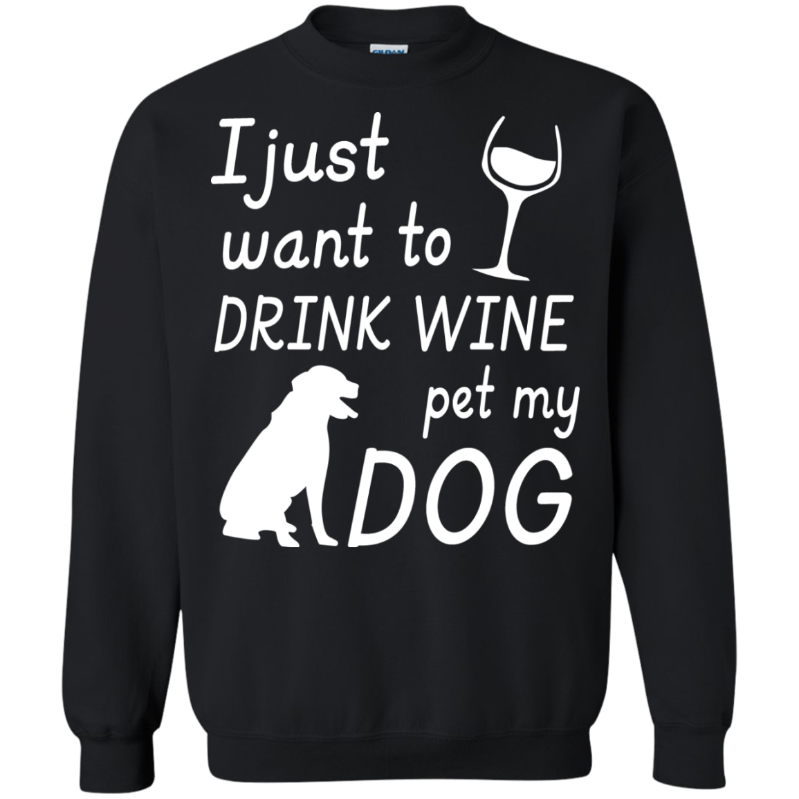 I just want to DRINK WINE pet my DOG - The Sun Cat