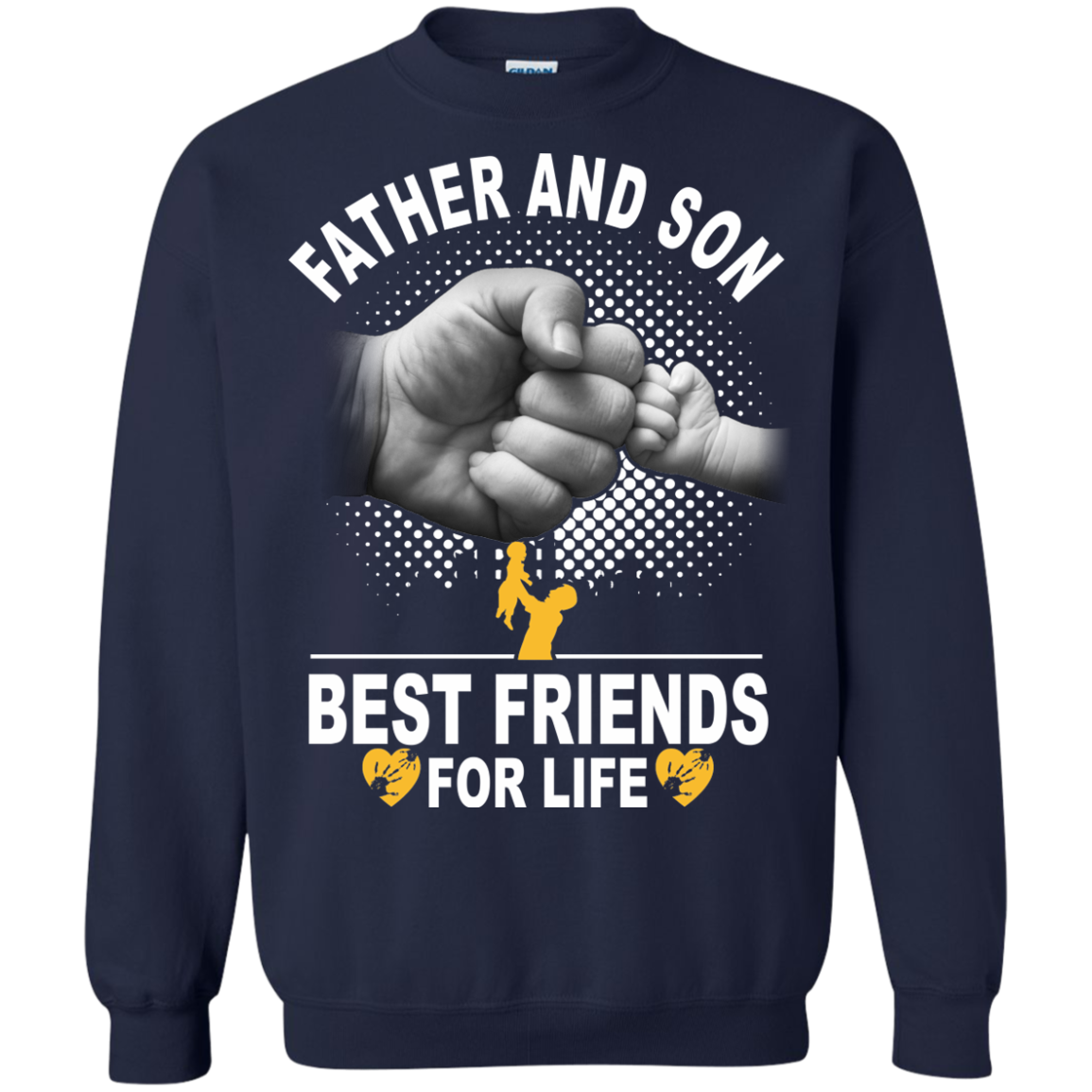 Father And Son Best Friends For Life T-Shirts - The Sun Cat