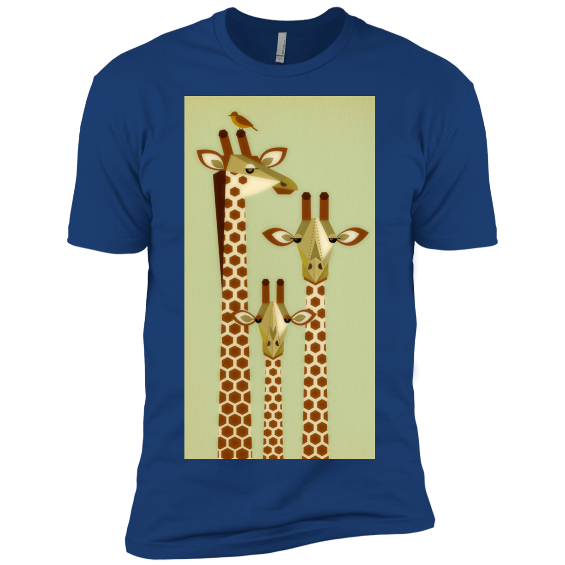 Giraffe Family Art Print Matching Family T-Shirts - The Sun Cat