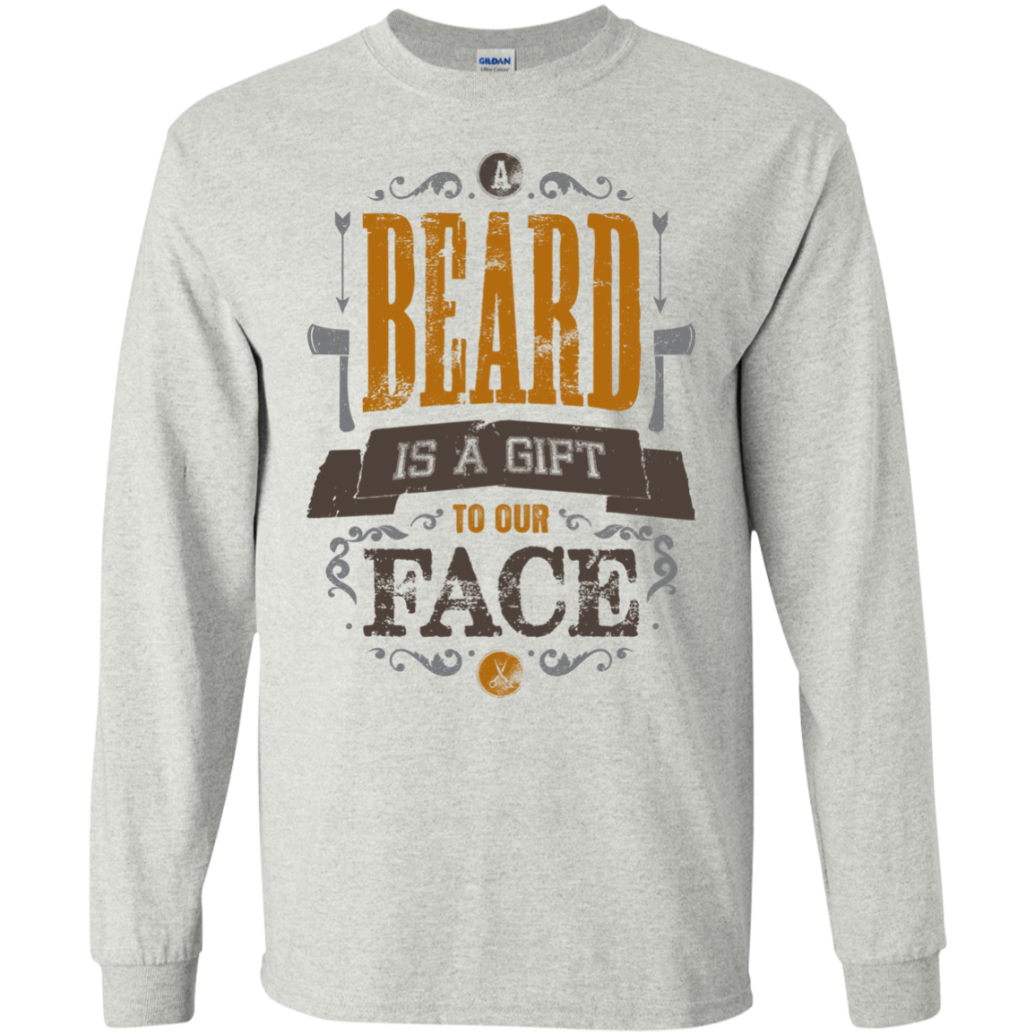 A BEARD IS A GIFT TO OUR FACE T-Shirt Hoodie Long sleeve Sweatshirt - The Sun Cat